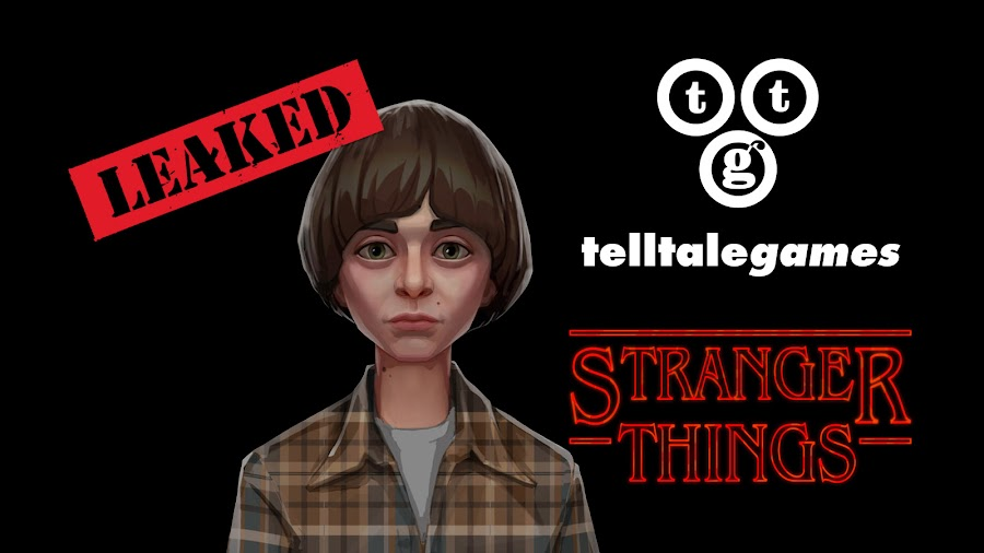 telltale stranger things game footage leak