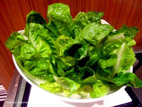Salad greens at Holiday Inn Makati