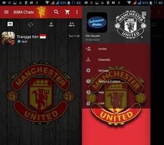 BBM Mod Manchester United Apk v3.0.0.18