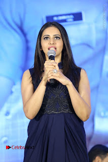 Actress Rakul Preet Singh Stills in Beautiful Blue Long Dress at Dhruva Salute to Audience Event  0058.JPG