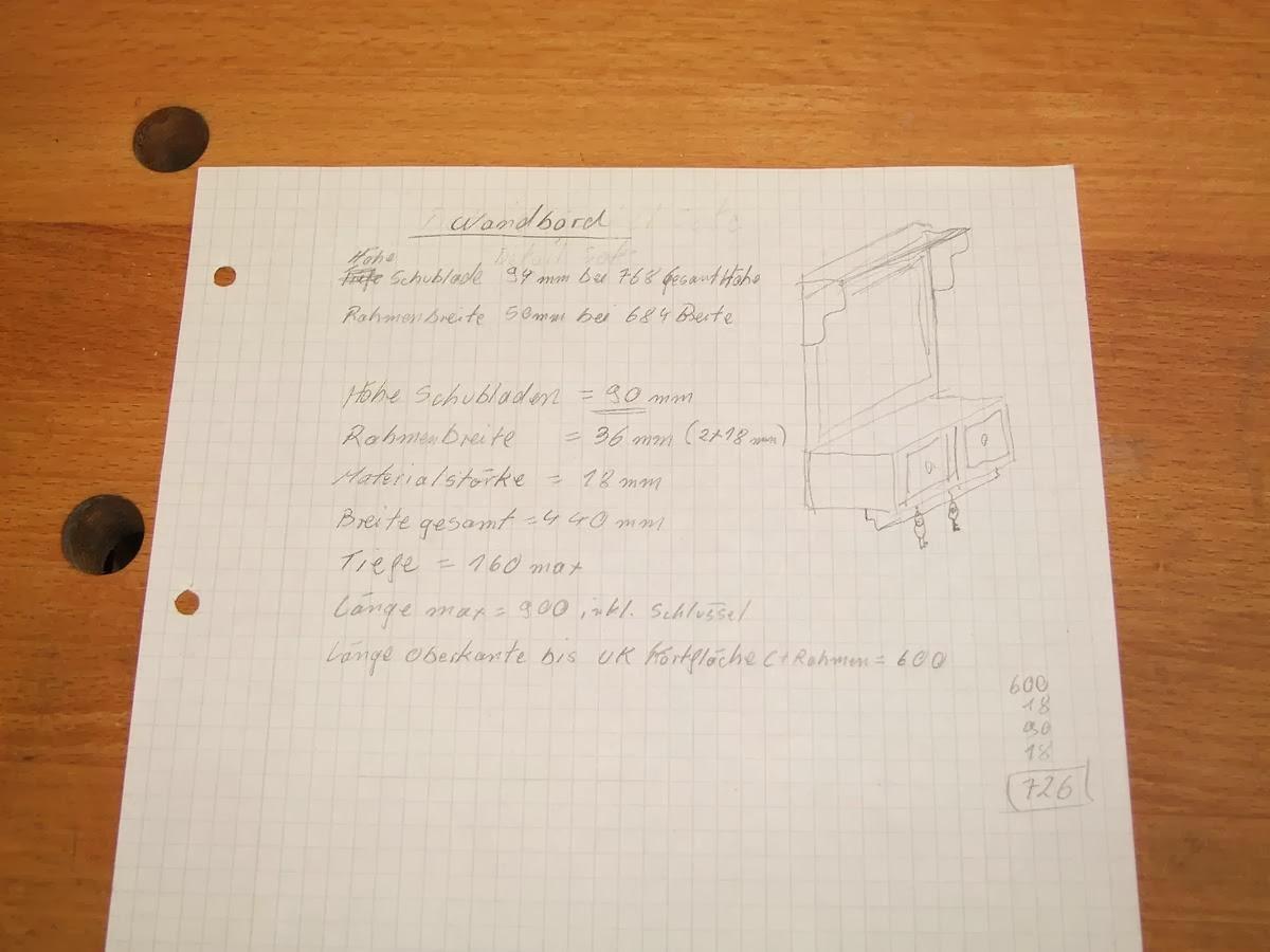 Michas Holzblog: Projektvorstellung: Wandboard mit Pinnwand - Teil 1