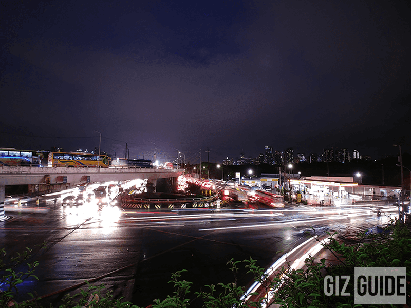 Long exposure in wide angle mode