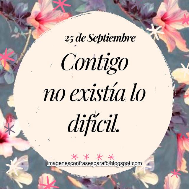 Frase para el Día 25 de Septiembre