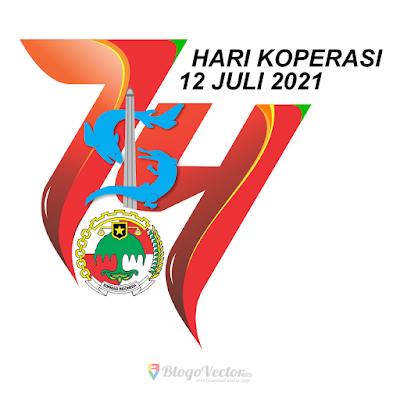 Hari Koperasi ke-74 Logo Vector
