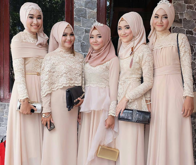 Model Kebaya Modern Brokat Muslim