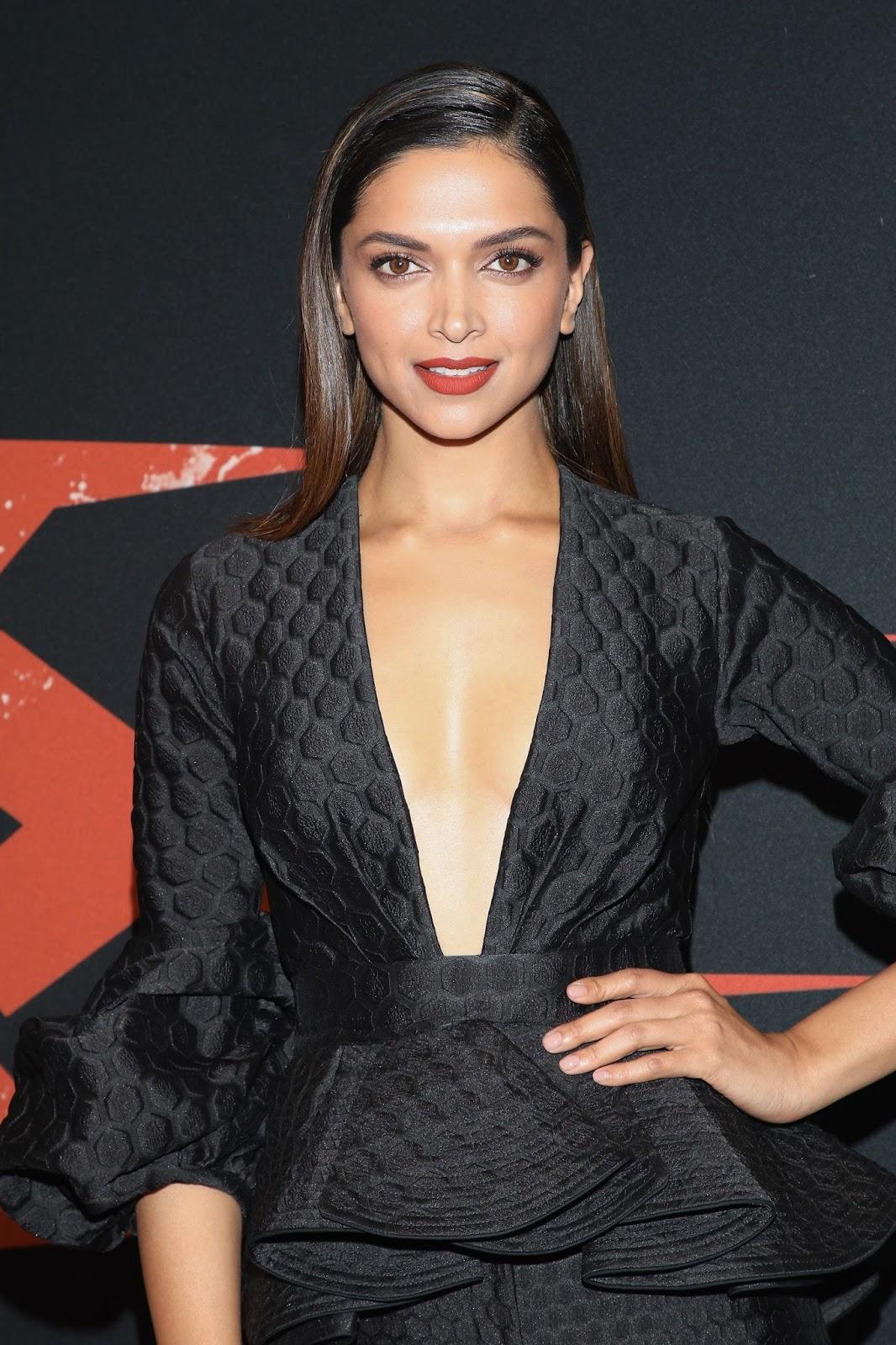 """Deepika Padukone Sexy In Black Dress At """"XXX: Return of ..."""