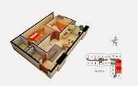 Thiết kế căn 18 19 20 21 tòa A chung cư Gemek Tower