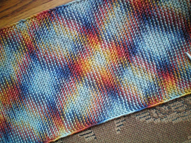 How to do Planned Pooling in your knitting, blogged by Dayana Knits (here using Rowan Fine Art Aran yarn)
