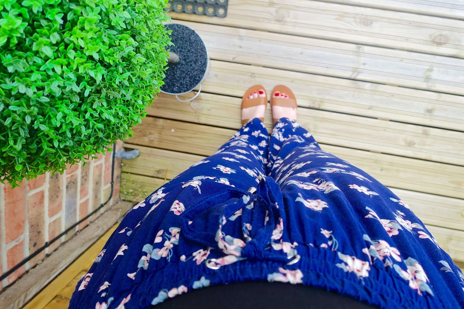 floral wide legged trousers