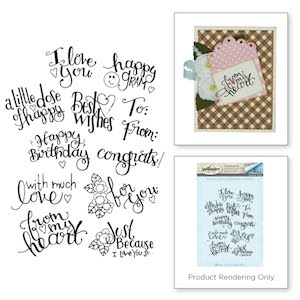 Spellbinders Tiny Sentiment Stamps