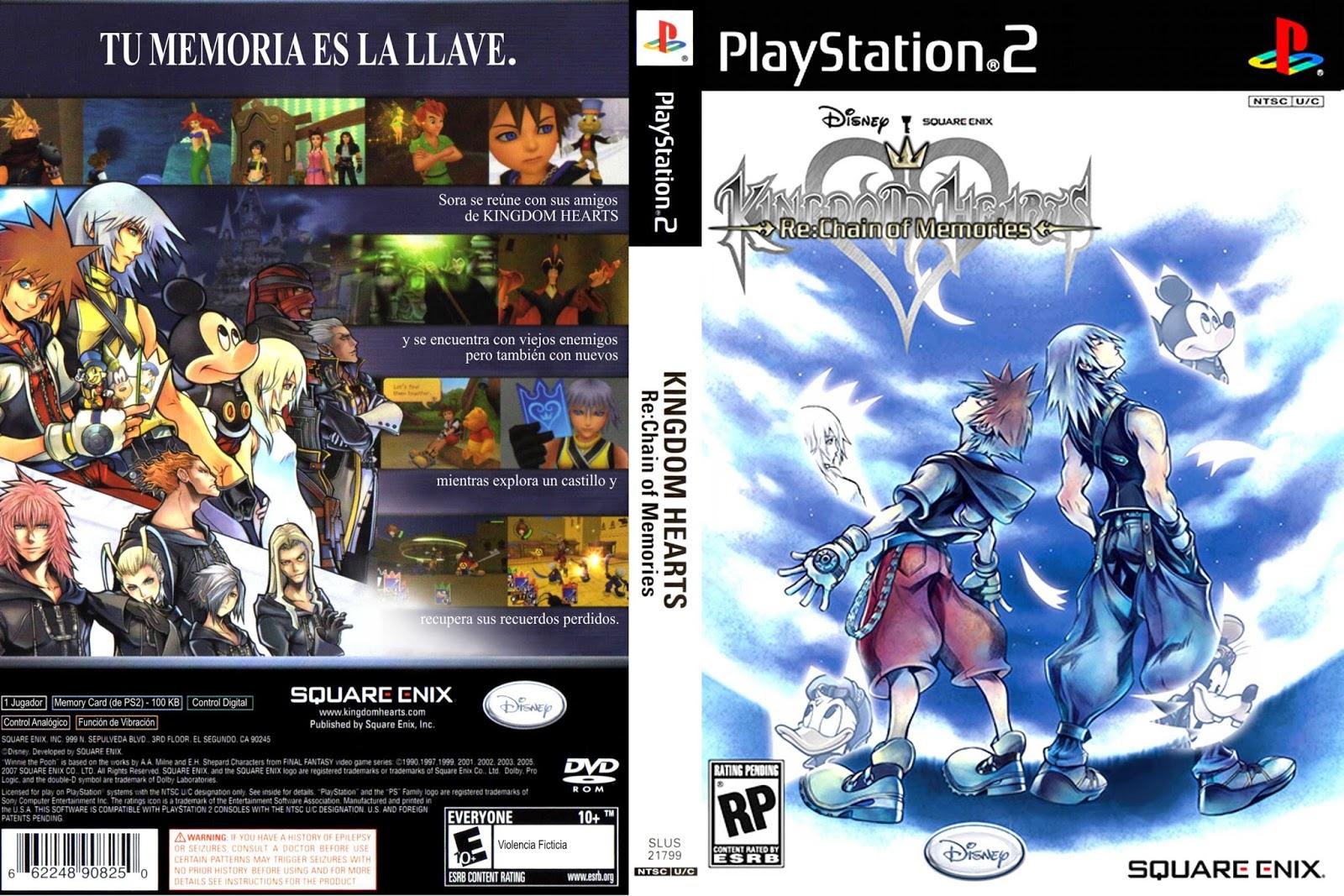 Patch Ita Kingdom Hearts Re Chain Of Memories Ps2 Rom - sevenchild