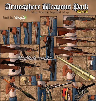 Atmosphere Weapons Pack (armas em HD para GTA SA)