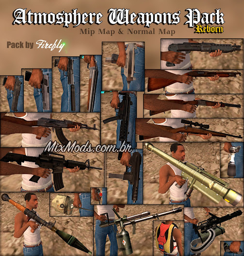 Atmosphere Weapons Pack (armas em HD para GTA SA)
