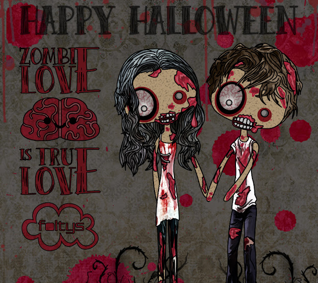 foltys vs zombie love | ilustración original | original illustration