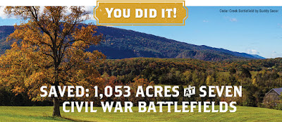 Four States, Seven Battlefields, 1,053 Acres Saved