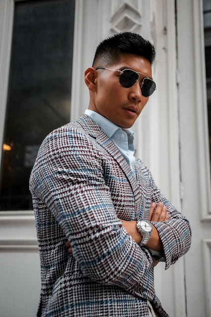 Leo Chan wearing Suit Supply Summer Blazer | Asian Model, Asian Man