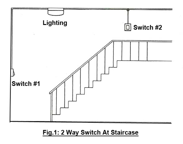 Pleasant Staircase Wiring Circuit Diagram 2 Way Switch Wiring Database Wedabyuccorg