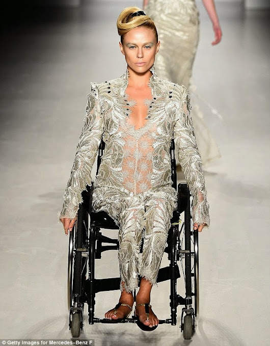 First Male Amputee Takes To The Runway Among Other Disabled Models At FTL Moda's Fashion Show In New York Fashion Week