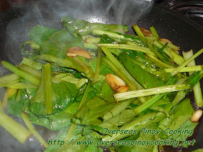 Adobong Choy Sum - Cooking Procedure