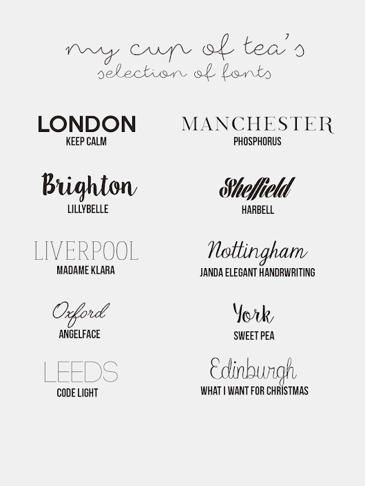 My favourite fonts