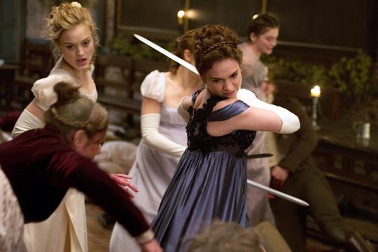 Elizabeth Bennet (Lily James) en Orgullo y prejuicio y zombis - Cine de Escritor