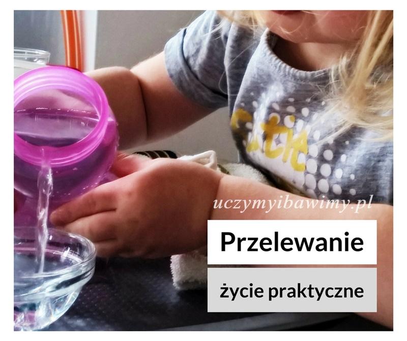 Przelewanie wody - Montessori