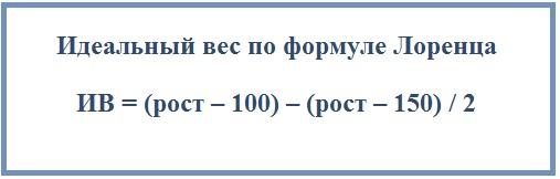 Идеальный вес по формуле Лоренца