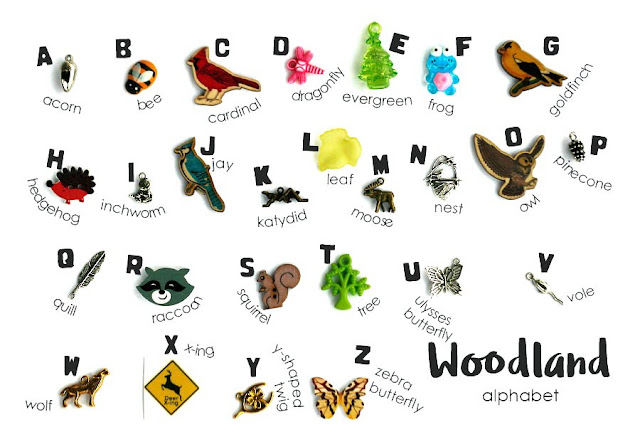 TomToy Woodland ABC alphabet I spy trinkets objects