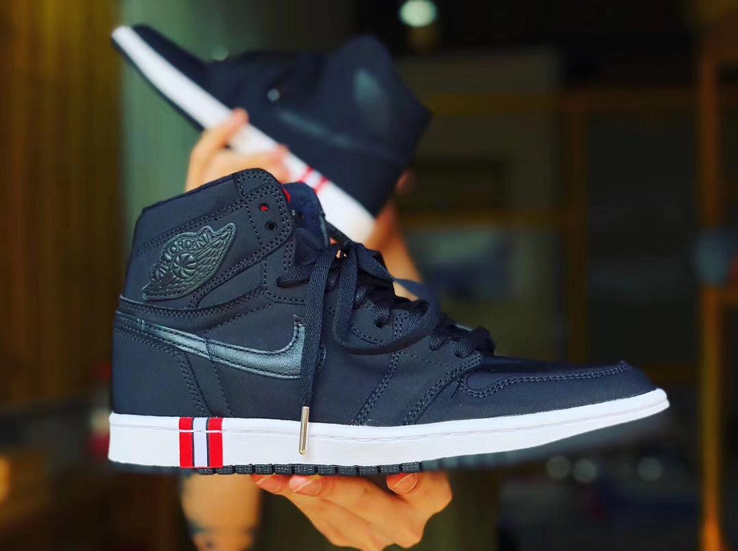 a98d71ca388 Following the leak of Nike Air Jordan 5 sneakers in PSG's colors, the next,  this time limited-edition Nike Air Jordan 1 Paris Saint-Germain Sneaker has  ...