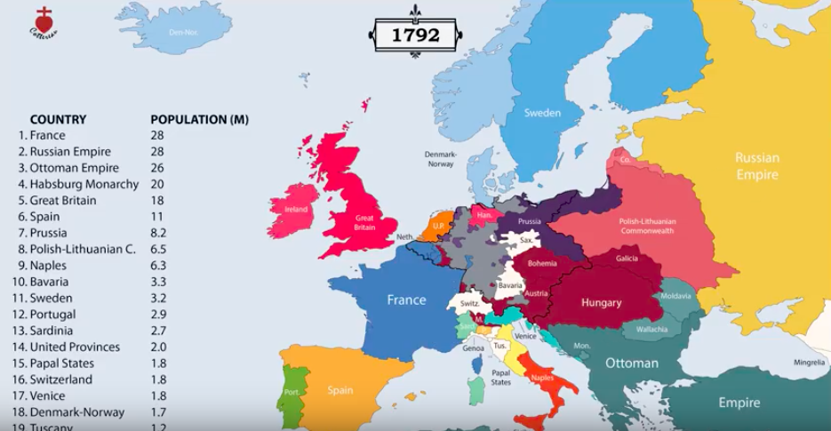 The Entire History Of Europe From 400 BC To The Present In A 12-Minute Animated Video