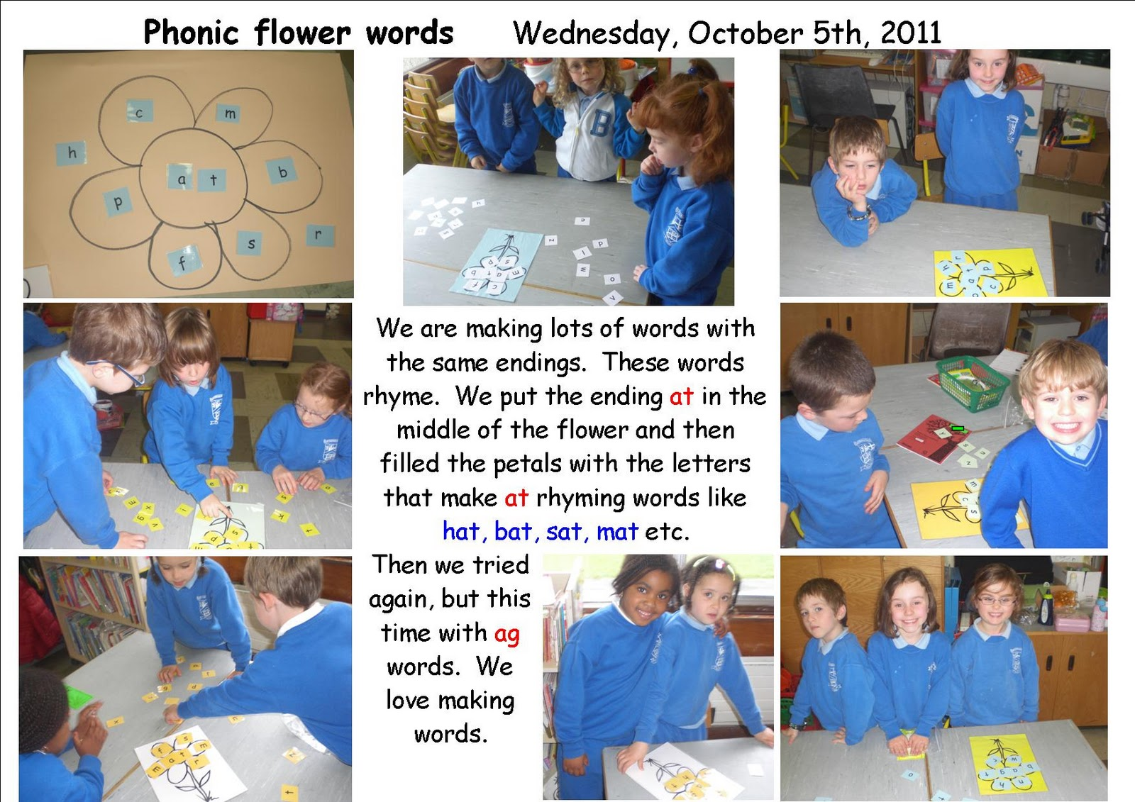 Literacy Site Flower Phonic Words In Senior Infants