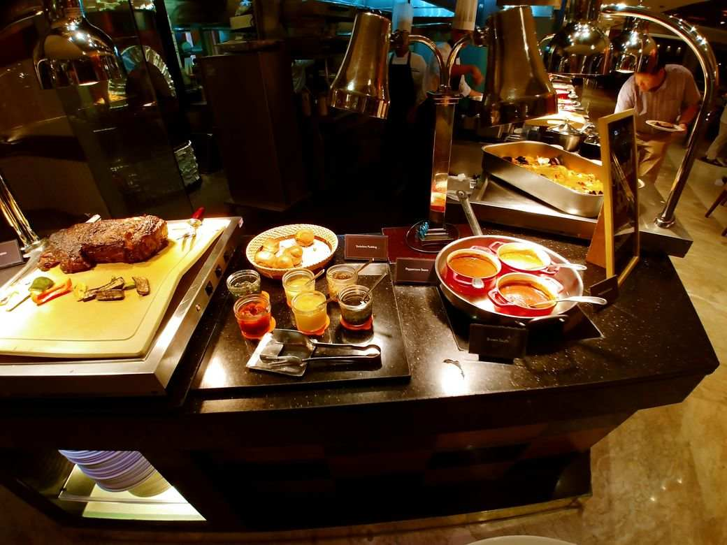 The carving station at Circles Event Cafe