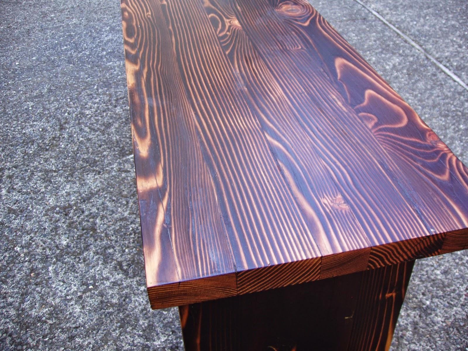 pnw shou sugi ban bench in reclaimed douglas fir. Black Bedroom Furniture Sets. Home Design Ideas