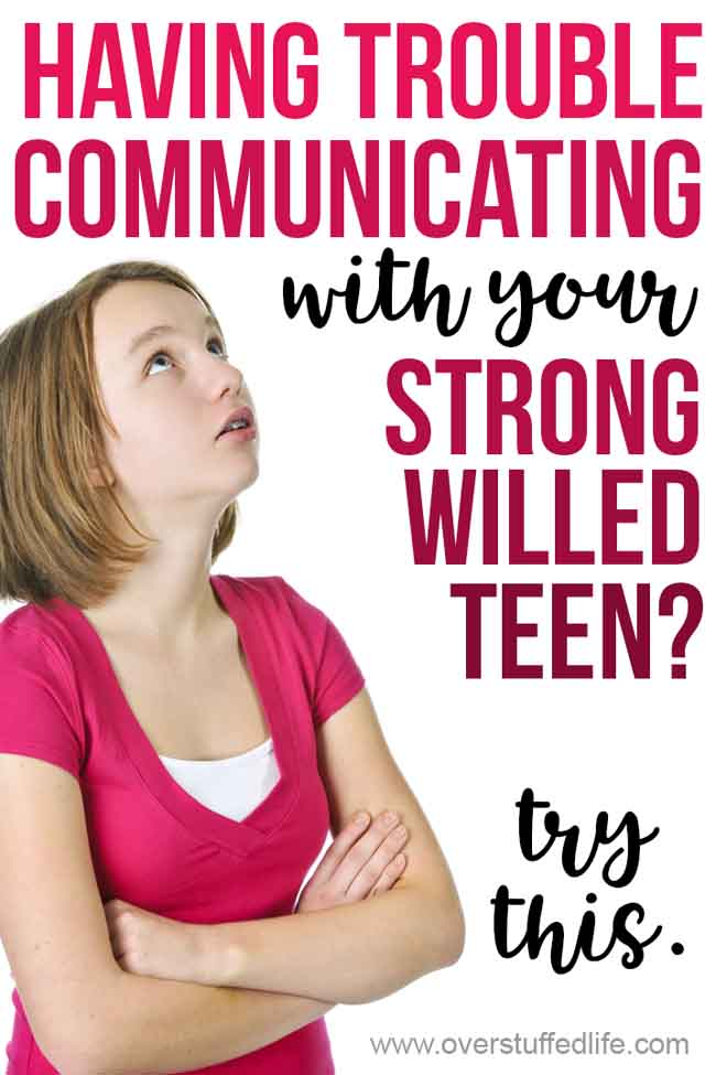 Are you having trouble getting through to your strong willed teen? Try this genius mom hack to finally start talking to your teenager.