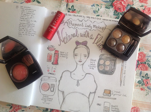 Pregnant Lady Makeup No. 1: Natural with a Flick