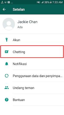 WhatsApp - Pilih menu Chatting