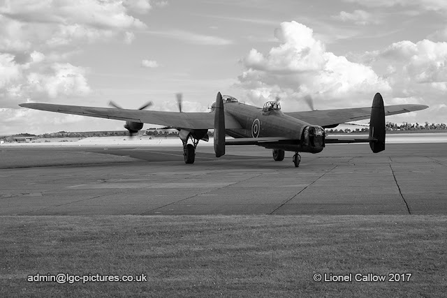 BBMF Lancaster aircraft taxiing