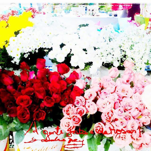 Rosas com frase