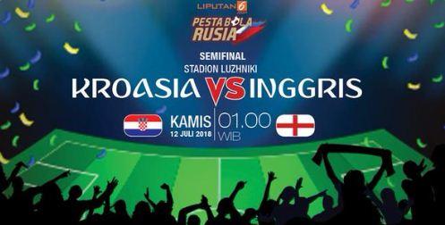Susunan Pemain Kroasia vs Inggris - Semifinal Piala Dunia 2018 #CROENG #WorldCup