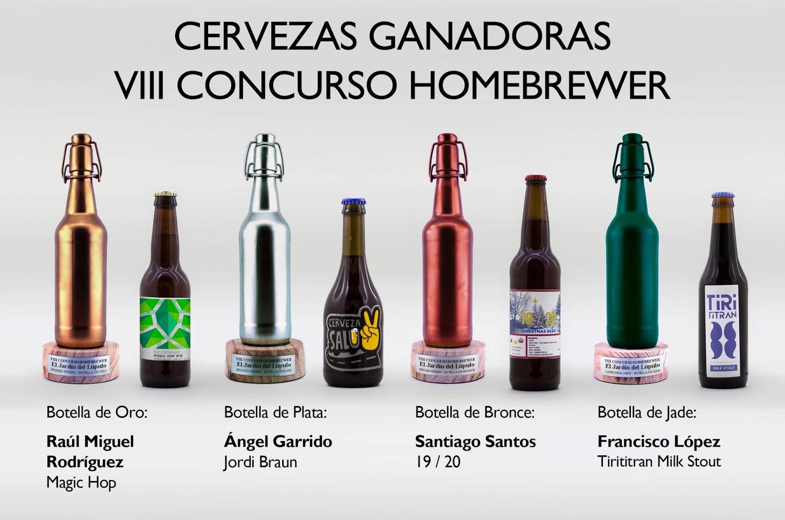 Cervezas Ganadoras del VIII Concurso Homebrewer