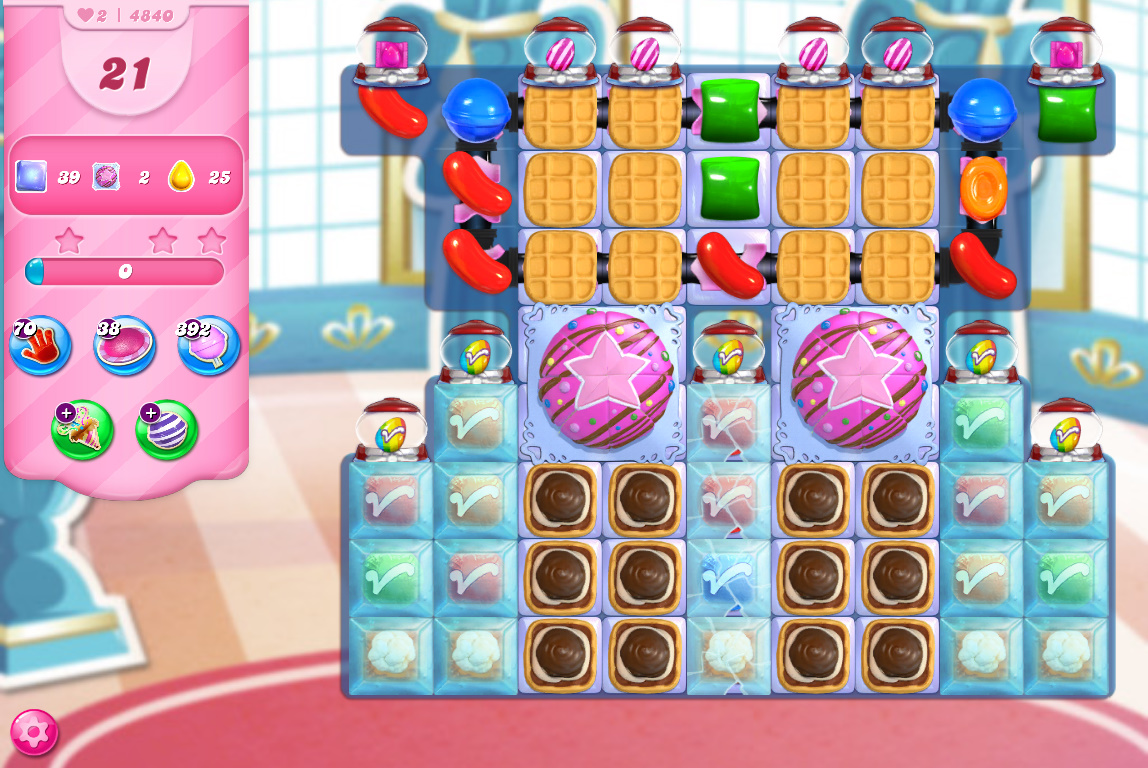 Candy Crush Saga level 4840