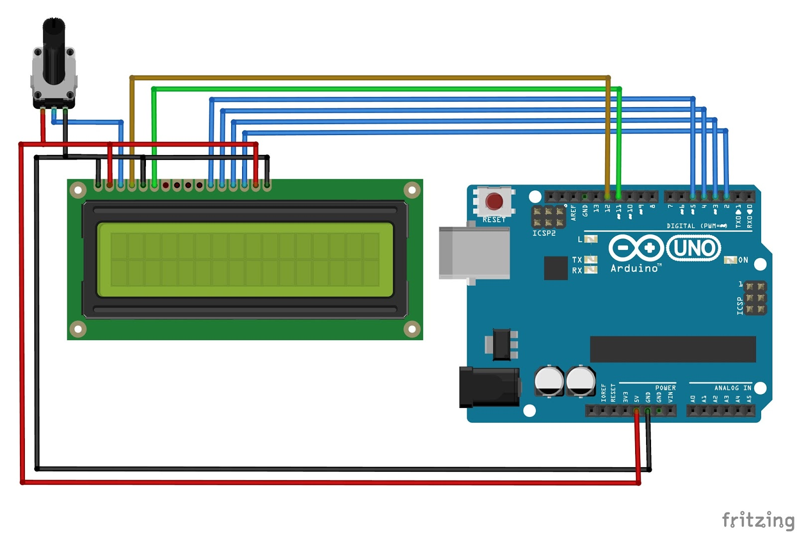 Arduino Lcd Wiring Diagram 26 Images 16x2 Display Screen Shield Interfacing With Tutorial Mechatrofice