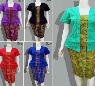 desain baju batik setelan rok
