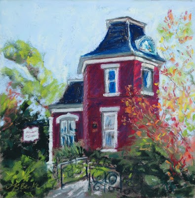 Hometown Treasure McCreery House in Loveland, CO, pastel painting by Mary Benke
