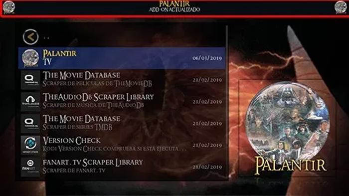 Kodi: Addon Wizard Palantir - Tecno Iptv