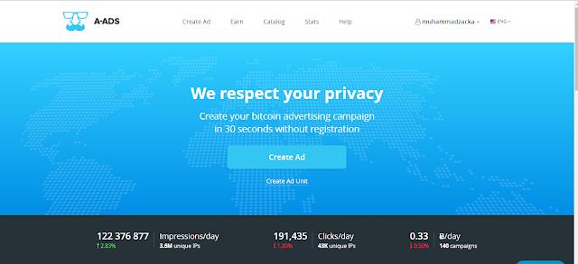 Tips Mendapatkan Bitcoin dari A-ads.com