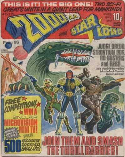 2000 AD and Star Lord, Prog 86, merger issue