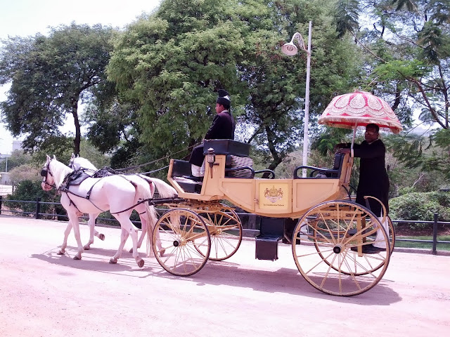 Falaknuma Palace Images: horse drawn carriage