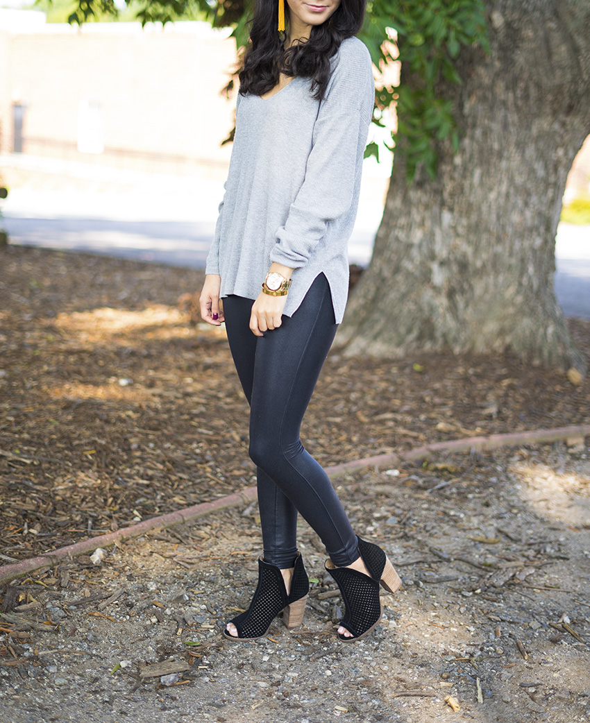 Fall Outfits You Can Wear Now, Leather Leggings Outfits, Tassel Earrings