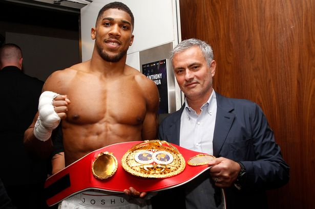 Duo: Mourinho and Joshua after the fight